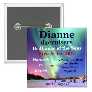 fire ice brilliance 2013 august name tag pinback buttons
