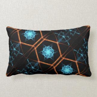 Fire Ice Flake Throw Pillow