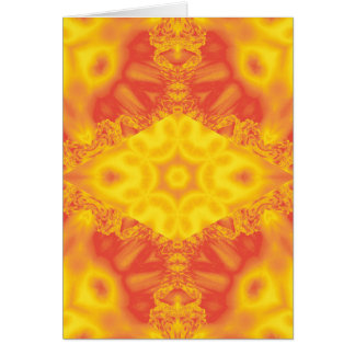 Fire ice fractal kaleidoscope vertical card