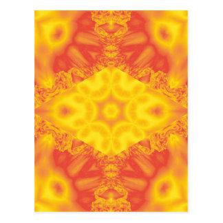 Fire ice fractal kaleidoscope vertical postcard