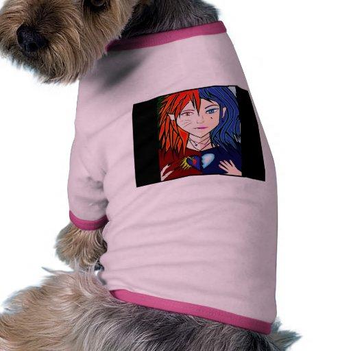 Fire Ice girl anime Doggie Tshirt