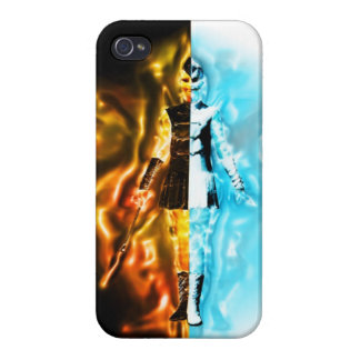 Fire & Ice Girl iPhone 4/4S Cover