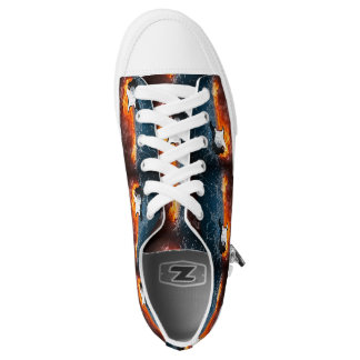 FIRE & ICE GUITAR PRINTED SHOES
