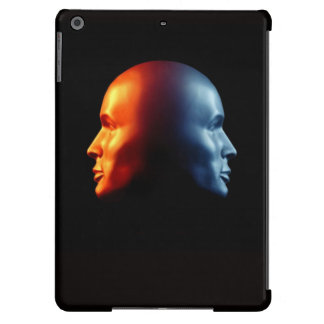 Fire & Ice Janus Head Design iPad Case
