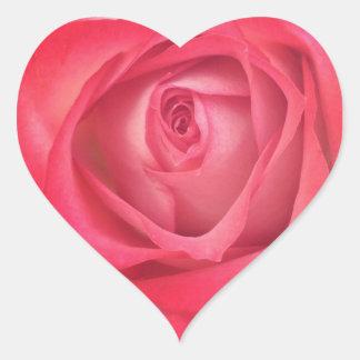 Fire & Ice Rose Heart Sticker