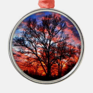 Fire & Ice Silver-Colored Round Decoration