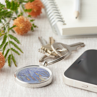 Fire & Ice Silver-Colored Round Key Ring