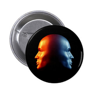 """""""Fire & Ice"""" Two-Faced Janus Button"""