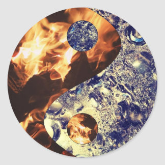 Fire & Ice Yin Yang Stickers