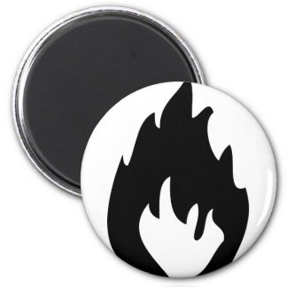 fire icon 6 cm round magnet