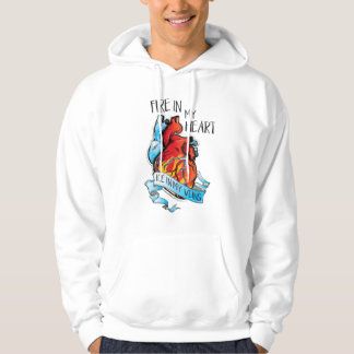 FIRE IN MY HEART ICE IN MY VEINS hockey hoodie