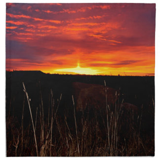 Fire in the Sky at Sunrise Napkin