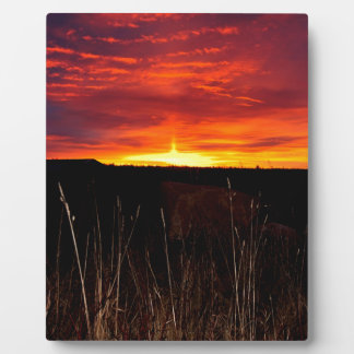 Fire in the Sky at Sunrise Plaque