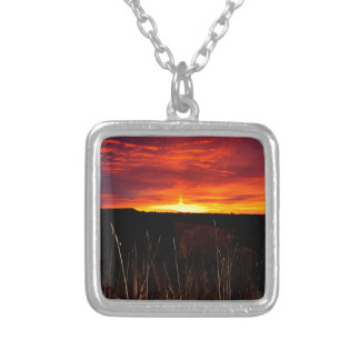 Fire in the Sky at Sunrise Silver Plated Necklace