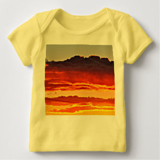 Fire In the Sky  Baby Lap Tee Shirt