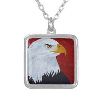 Fire In The Sky Eagle. Silver Plated Necklace