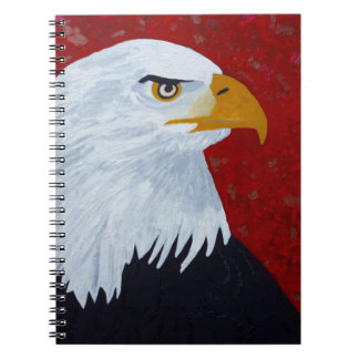 Fire In The Sky Eagle. Spiral Notebook