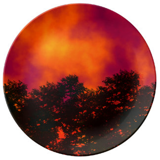Fire in the Sky Porcelain Plate