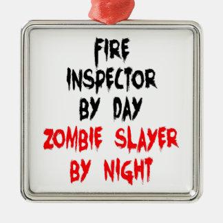 Fire Inspector Zombie Slayer Metal Ornament