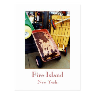 'Fire Island Colored Wagons' Postcard
