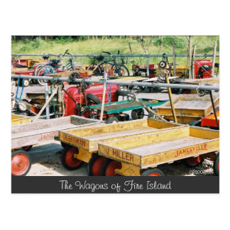 Fire Island Wagon Postcard