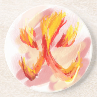 fire [japanese] drink coasters