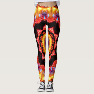 Fire Kaleidoscope Leggings