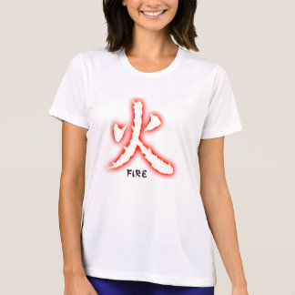 Fire Kanji Ladie's Micro Fiber T-Shirt