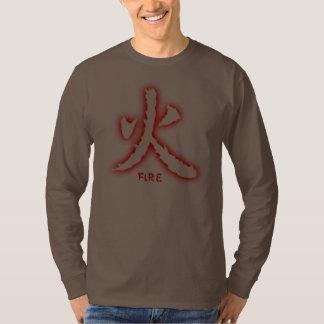 Fire Kanji Men's Dark Long Sleeve Shirt