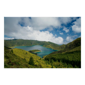 Fire Lake, Azores Poster