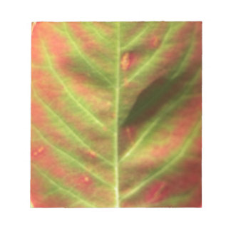 Fire Leaf Notepad