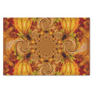 Fire Leaf Swirls Tissue Paper