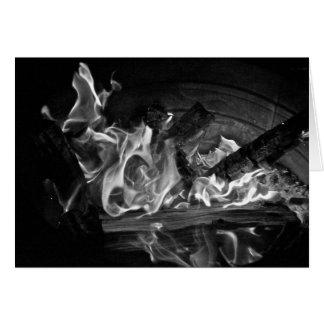 Fire & Light cards, bonfire Card