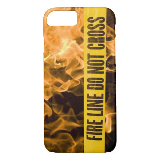 """""""Fire Line Do Not Cross"""" IPhone 8 Case"""