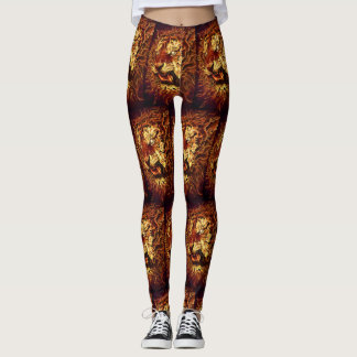 Fire Lion Leggings