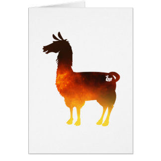 Fire Llama Greeting Card