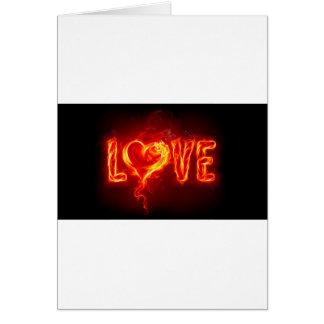 fire love greeting card
