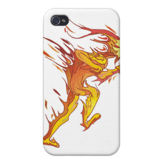 Fire Man Covers For iPhone 4