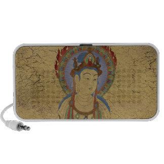 Fire Mandala Buddha Doodle Speaker Crackle Backg