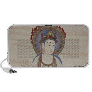 Fire Mandala Buddha Doodle Speaker Doug Fir Backg