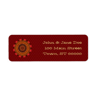 Fire Mandala Return Address Label