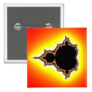 Fire Mandelbrot 15 Cm Square Badge