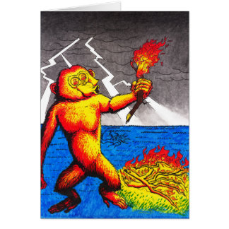 Fire Monkey Greeting Card