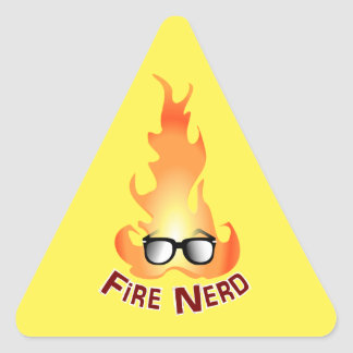 """Fire Nerd"" Cool Fire Triangle Sticker"