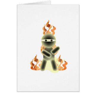 Fire Ninja (by lil kolohe Nick) Greeting Card