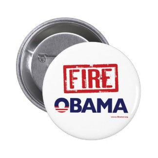 Fire Obama 6 Cm Round Badge