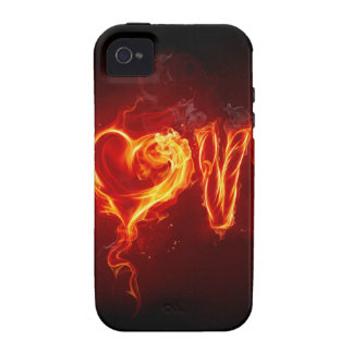 Fire Of Love Case-Mate iPhone 4 Covers
