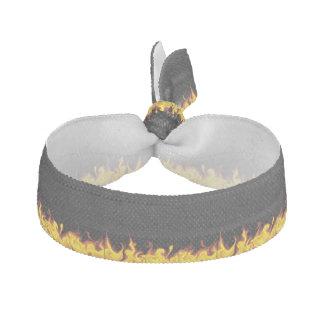 Fire on Black Elastic Hair Tie