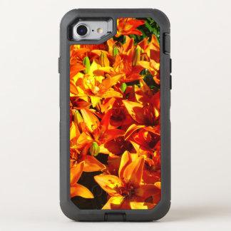 Fire Orange Lily 2 Flower Otter Box OtterBox Defender iPhone 8/7 Case