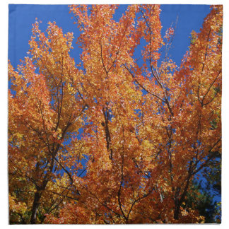 Fire Orange Tree Napkin